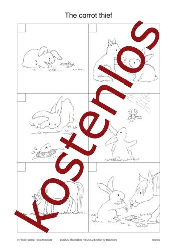 Vorschaugrafik 1 für das kostenlose Arbeitsblatt LOGICO-Box: The carrot thief von Lehrermaterial.de.