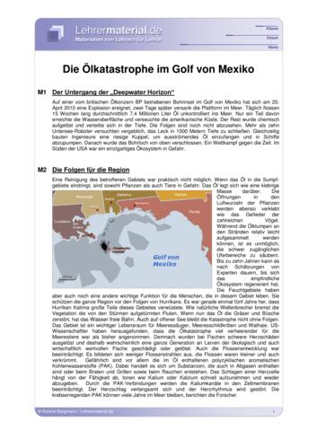 Vorschaugrafik für das  Arbeitsblatt Die Ölkatastrophe im Golf von Mexiko (aktualisiert) von Lehrermaterial.de