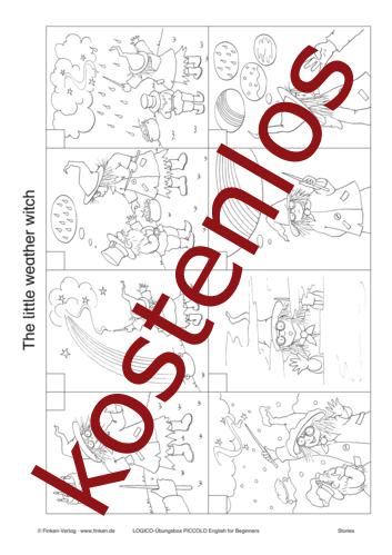 Vorschaugrafik 1 für das kostenlose Arbeitsblatt LOGICO-Box: The little weather witch von Lehrermaterial.de.