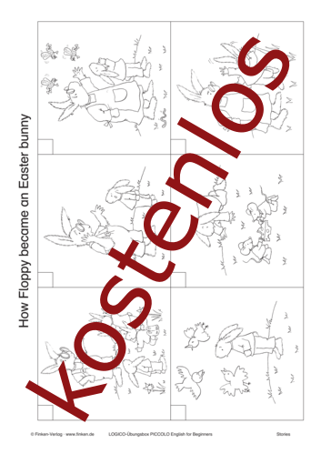 Vorschaugrafik 1 für das kostenlose Arbeitsblatt LOGICO-Box: Easter bunny von Lehrermaterial.de.