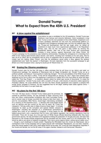 Vorschaugrafik 1 für das  Arbeitsblatt Donald Trump: What to Expect from the 45th U.S. President von Lehrermaterial.de.