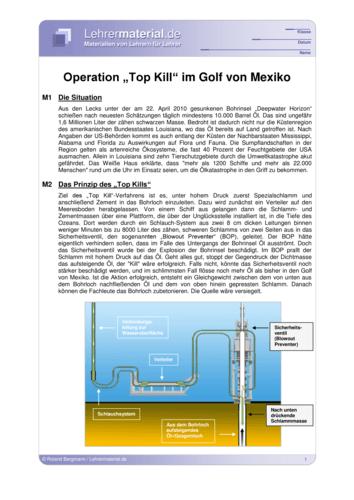 Vorschaugrafik für das  Arbeitsblatt Operation Top Kill im Golf von Mexiko  von Lehrermaterial.de