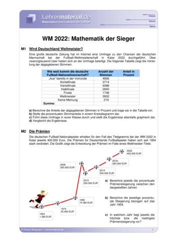 Vorschaugrafik 1 für das  Arbeitsblatt EM 2021: Mathematik der Sieger von Lehrermaterial.de.