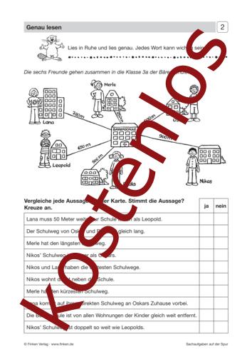 Vorschaugrafik 1 für das kostenlose Arbeitsblatt Sachaufgaben auf der Spur (I) - Genau lesen von Lehrermaterial.de.