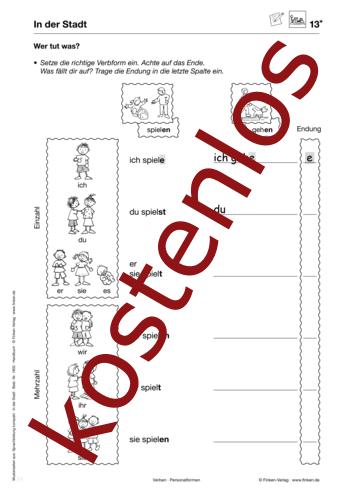 Vorschaugrafik 1 für das kostenlose Arbeitsblatt Wer tut was? von Lehrermaterial.de.