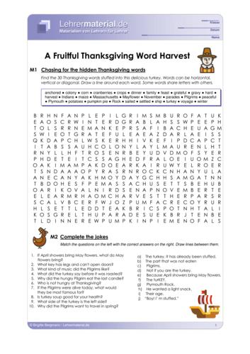 Vorschaugrafik 1 für das  Arbeitsblatt A Fruitful Thanksgiving Word Harvest von Lehrermaterial.de.