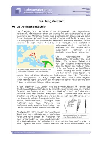 Vorschaugrafik 1 für das  Arbeitsblatt Die Jungsteinzeit von Lehrermaterial.de.