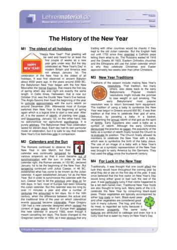 Vorschaugrafik 1 für das  Arbeitsblatt The History of the New Year von Lehrermaterial.de.