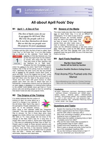 Vorschaugrafik für das  Arbeitsblatt All About April Fools' Day von Lehrermaterial.de
