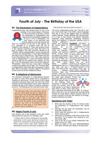 Vorschaugrafik 1 für das  Arbeitsblatt Fourth of July - The Birthday of the USA von Lehrermaterial.de.