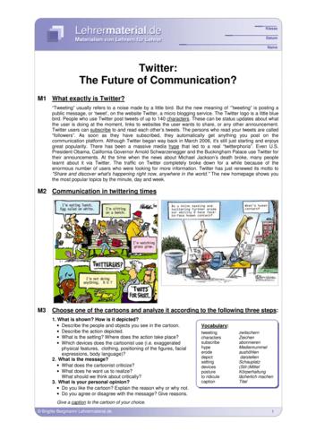 Vorschaugrafik 1 für das  Arbeitsblatt Twitter: The Future of Communication? von Lehrermaterial.de.