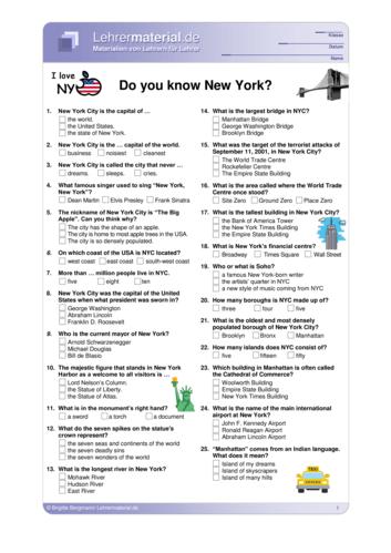 Vorschaugrafik 1 für das  Arbeitsblatt Do you know New York? von Lehrermaterial.de.
