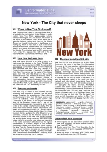 Vorschaugrafik 1 für das  Arbeitsblatt New York - The City that never sleeps von Lehrermaterial.de.