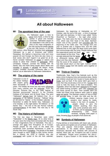 Vorschaugrafik 1 für das  Arbeitsblatt All about Halloween von Lehrermaterial.de.