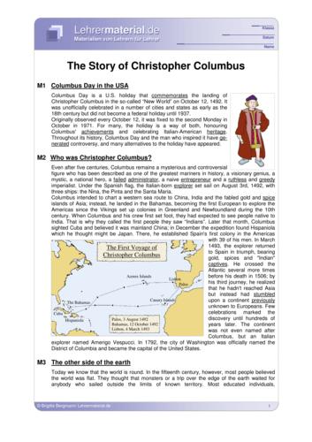 Vorschaugrafik 1 für das  Arbeitsblatt The Story of Christopher Columbus von Lehrermaterial.de.