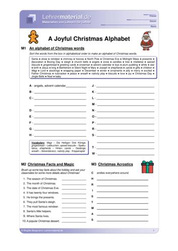 Vorschaugrafik 1 für das  Arbeitsblatt A Joyful Christmas Alphabet von Lehrermaterial.de.