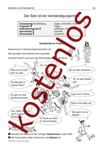 Vorschaugrafik 1 für das kostenlose Arbeitsblatt Der Satz ist ein Verständigungsmittel von Lehrermaterial.de.