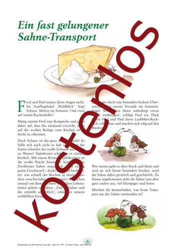 Vorschaugrafik 1 für das kostenlose Arbeitsblatt Aus Sahne wird Butter von Lehrermaterial.de.