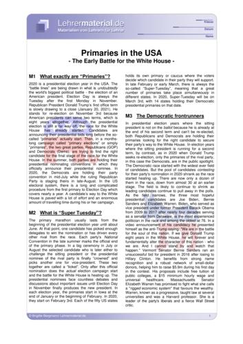 Vorschaugrafik 1 für das  Arbeitsblatt Primaries in the USA von Lehrermaterial.de.