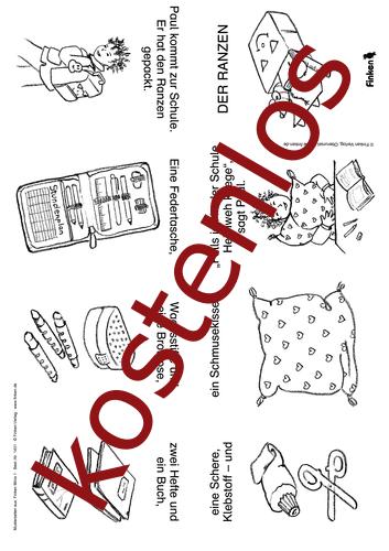 Vorschaugrafik 1 für das kostenlose Arbeitsblatt Finken Minis: Der Ranzen von Lehrermaterial.de.