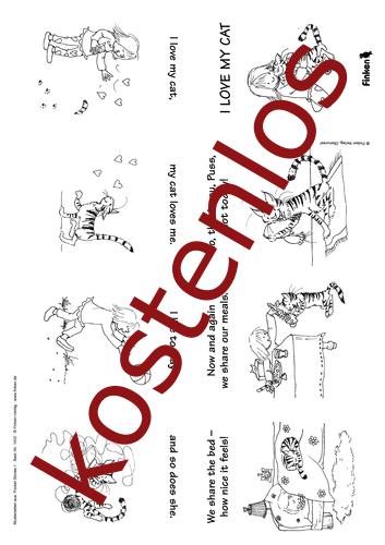 Vorschaugrafik 1 für das kostenlose Arbeitsblatt Pocket stories - I love my cat von Lehrermaterial.de.