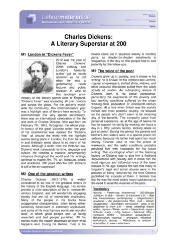 Vorschaugrafik 1 für das  Arbeitsblatt Charles Dickens: A Literary Superstar at 200  von Lehrermaterial.de.