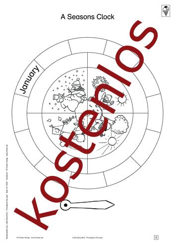 Vorschaugrafik 1 für das kostenlose Arbeitsblatt Little Early Bird - A Seasons Clock (II) von Lehrermaterial.de.