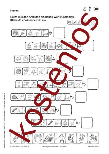 Vorschaugrafik 1 für das kostenlose Arbeitsblatt Anlautbilder von Lehrermaterial.de.