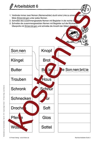 Vorschaugrafik 1 für das kostenlose Arbeitsblatt Rechtschreibleiter von Lehrermaterial.de.