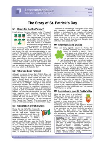 Detailseite für das  Arbeitsblatt The Story of Saint Patrick's Day  öffnen