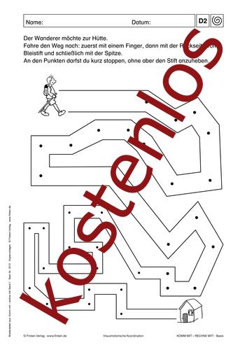Vorschaugrafik 1 für das kostenlose Arbeitsblatt Komm mit - Rechne mit: Labyrinth von Lehrermaterial.de.