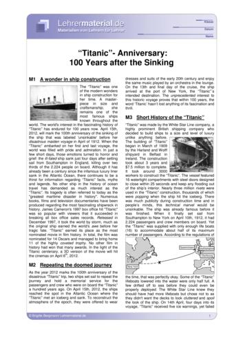 Vorschaugrafik 1 für das  Arbeitsblatt Titanic-Anniversary: 100 Years after the Sinking von Lehrermaterial.de.