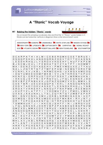 Vorschaugrafik 1 für das  Arbeitsblatt A Titanic Vocab Voyage von Lehrermaterial.de.