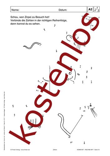 Vorschaugrafik 1 für das kostenlose Arbeitsblatt Komm mit - Rechne mit: Zählen von Lehrermaterial.de.