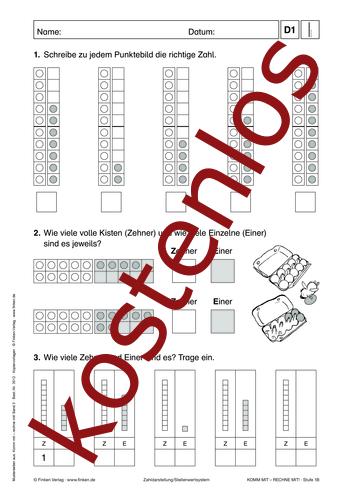 Vorschaugrafik 1 für das kostenlose Arbeitsblatt Komm mit - Rechne mit: Punktbilder von Lehrermaterial.de.